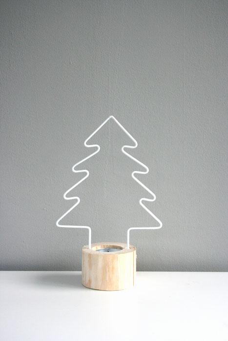 Kerstboom waxinelichthouder