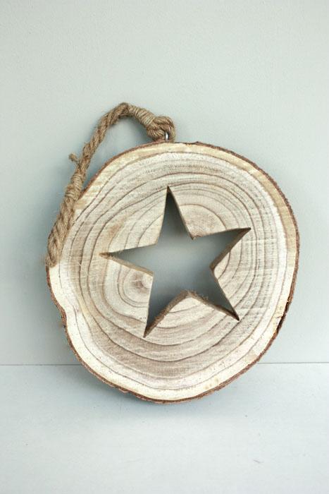 boomschijf ster hanger, groot