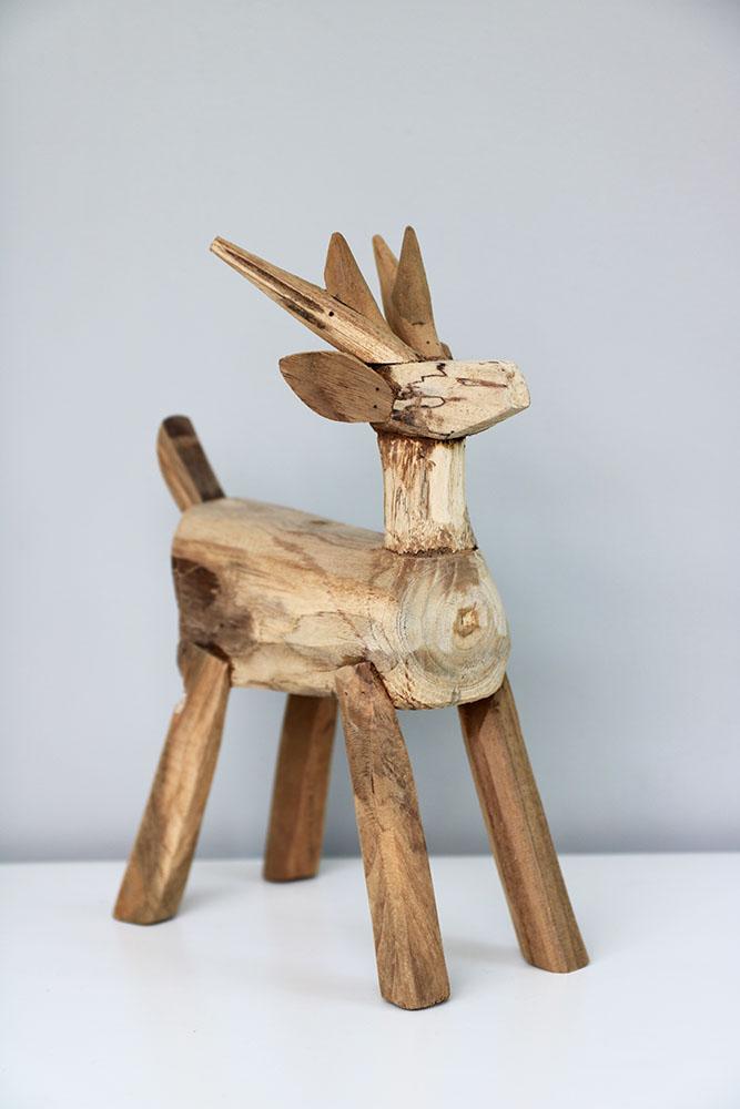 Handgemaakt houten hert - Houten interieurdecoratie ...