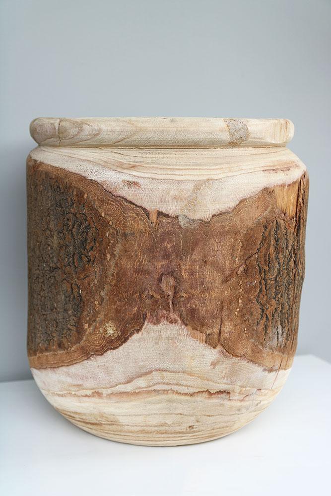 Grote houten bloempot3